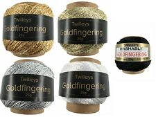 Twilleys Goldfingering 25g Metallic Crochet & Knitting Yarn 5 Colours