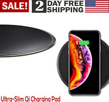Premium Ultra Slim Qi Wireless Charging Pad iPhone Galaxy Pixel Charger Soft LED
