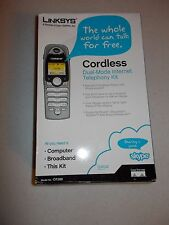 NEW Linksys Cordless Dual-Mode Internet Telephony kit CIT300 skype home phone