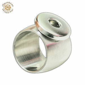 Ring für Click Buttons Druckknöpfe Edelstahl extra Breit 18mm MASSIV UVP 8,99EUR