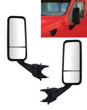 Pair Black Heated Mirror Assemblies for Peterbilt & Kenworth  (LH & RH)