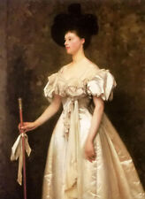Oil painting thomas cooper gotch portrait of miss winifred grace hegan nice girl