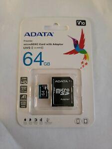 Micro SD Card 64GB - 10 Fast 100MB/s HD