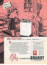 PUBLICITE  1955   BRANDT  lave linge  machine  à laver