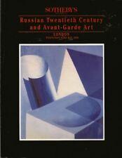 SOTHEBY'S Russian Avant-Garde Art Bakst Exter Lissitsky Auction Catalog 1990