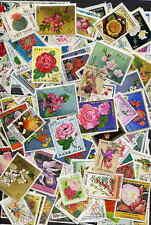 200 DIFFERENT STAMPS SHOWING FLOWERS -  NO DUPLICATES - NO DAMAGED OR HINGED!