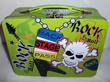 Rock & Roll-Back Stage Pass`Full Size`New Unused-Metal Lunchbox-Free To US
