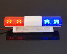 RC Police Light Bar Simulating Rotating Red and Blue LEDs, Super Bright Oval