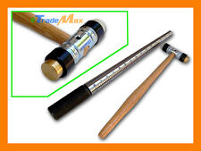 Combo Solid Steel Ring Band Mandrel Stick & Dual Head Hammer Brass and Nylon