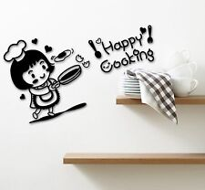 Wall Stickers Vinyl Decal for Kitchen Chef Happy Cooking Restaurant ig1338