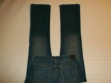 X2 DENIM JEANS Bootcut Lowrise Vintage Type Blue Wash 2R Stretch GreatCondition!