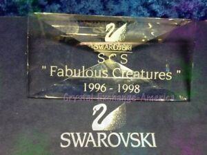 Swarovski Crystal SCS Fabulous Creatures Plaque - 008721 / SCPCSNR4. MIB