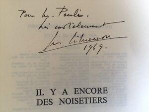 """ENVOI Georges Simenon """"Il y a encore des noisetiers"""" 1 des 200 Ex Numéroté"""