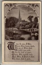 We love the place O'God - Tucks 5534, Illustrated Hymms Postcards - 1906