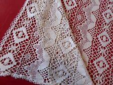 ancien dessus lit,  N°324,  rideau crochet d'art  , 202cmx198cm