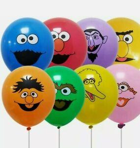 30 pcs Sesame Street Balloons Party 12' Latex Balloon Elmo Big Bird Cookie Monst