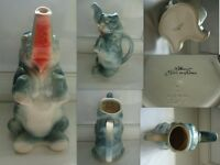 PICHET ELEPHANT EN BARBOTINE  ST CLEMENT MADE IN FRANCE NUMEROTE 4470/1