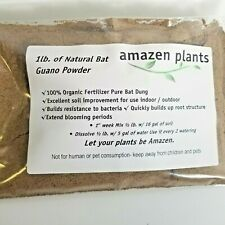 Organic Guano Natural Fertilizer No odor Indoor outdoor Plants, 1 lb Bag