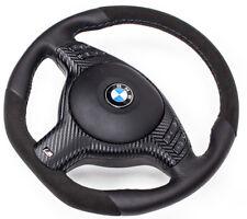 Tuning aplanada Alcantara volante de cuero bmw e46 e39 x5 diafragma multif y airbag