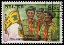 "BELIZE 642 (SG691) - Boy Scouts 75th Anniversary ""Scouts with Flag"" (pa54971)"