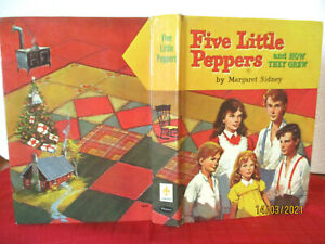 Margaret Sidney FIVE LITTLE PEPPERS AND HOW THEY GREW HC 1955 vintage book