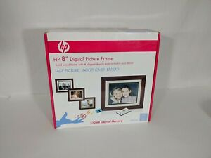 "HP 8"" Digital Picture Frame DF820A4 512MB Solid Wood Frame & 4 Elegant mats NEW"