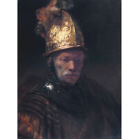 Rembrandt Circle The Man With The Golden Helmet Canvas Art Print Poster