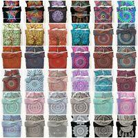 Duvet Cover Mandala Indian Hippie Queen Size Doona Quilt Cover Boho Bedding Set