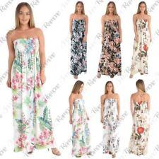 Tropical Sleeveless Dresses for Women