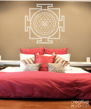 Vinyl Wall Decal Sticker sri yantra circle Morrocan Mandala ornament r1800