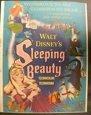 """SLEEPING BEAUTY"" Original window card 1959"