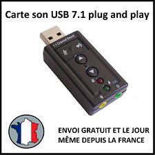 ADAPTATEUR CLE USB CARTE SON 3D 7.1 AUDIO MICRO CASQUE ORDINATEUR PC ECOUTEURS