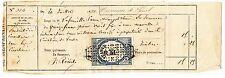 RECU PAIEMENT COMMUNE DE LUNEL 1874  TIMBRE FISCAL