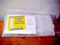 Container Store 24 Pocket Over door Mesh Shoe Bag nEW iN pKG FREE SHIP USA