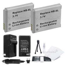 2x NB-6LH Battery + Charger for Canon SD1200 SD3500 SD4000 SX240 SX260 SX500