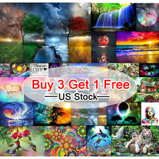 Full Drill Landscape Art 5D Diamond Painting Cross Stitch Embroidery Decor Us