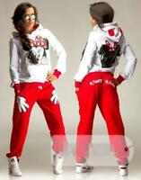 Women's Sports 2 Pieces Cute Hood Mickey Mouse Print Long Sleeve Sweater Casual