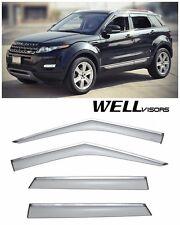 For 12-UP Range Rover Evoque WellVisors Side Window Visors W/ Chrome Trim