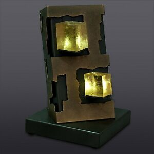Art Object Natural Optical Calcite Mineral CRYSTAL LIGHT SCULPTURE  Lamp-B-4