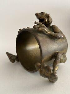 """Charles """"Charley"""" Gohn Brutalist Bronze Art Sculpture Signed Modernist"""