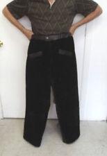 NEW REFURBISHED MEN MAN BROWN BON MOUTON LAMB FUR PANTS PANT W/ LEATHER SZ ALL