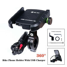 Aluminum Alloy Motorcycle Bracket Mounts Holders W/ USB Charger Part for Phones