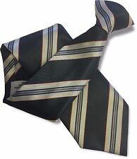 hochwertig dunkelblau herren clip on tie clipper-silber und schmalen roten streifen