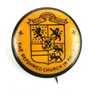Vintage 1894 The Reformed Church in America The Whitehead & Hog Pinback Button