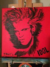 BILLY IDOL ORIGINAL POP ART ON 12X12 STRETCHED CANVAS