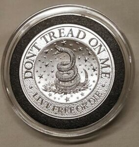 2oz Don't Tread on Me ~ Live Free or Die .999 Silver Round Snake Coin