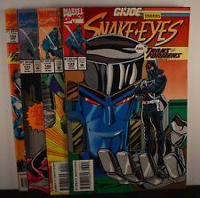 G.I. Joe ARAH #s: 139,140,141,142  (Marvel, 1993) Snake Eyes & Transformers