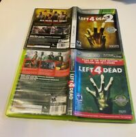 Left 4 Dead 1 GOTY & 2 Microsoft Xbox 360 GAME LOT COMPLETE PLATINUM VALVE