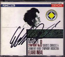 Eliahu INBAL Signiert MAHLER Symphony No.8 DENON 2CD Hermann Prey Jane Henschel