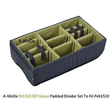 Padded divider set fit OD Green Pelican1510  peli Cases a-mode (NO Case)